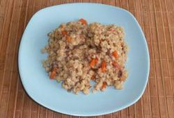 Barley porridge with stewed meat