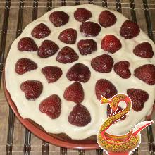 Strawberry cake recipe with photo