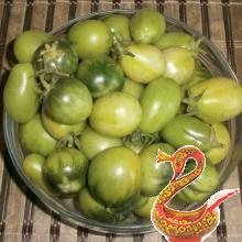 Canned green tomatoes for the winter