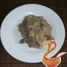 Russian dish liver BeefStroganoff