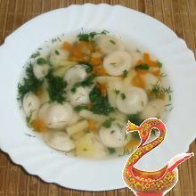 Суп с пельменями рецепт с фото