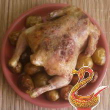 Цыпленок запеченный с картофелем