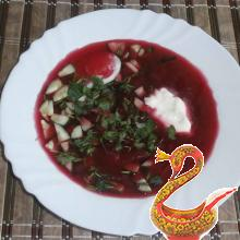 Russian beetroot soup cold