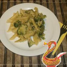 Макароны с капустой брокколи