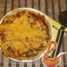Грибная пицца рецепт с фото
