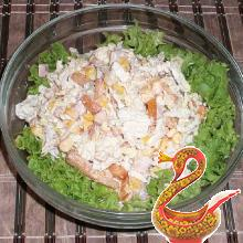 Russian salad of Chinese cabbage