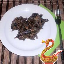 Жареные грибы со сметаной