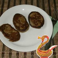 Fritters of eggplant recipe with photos