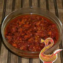 Stewed sweet peppers