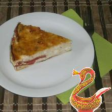 Cottage cheese casserole with tomatoes