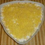 """""""Mimosa"""" - Russian fish salad"""