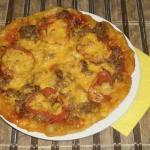 Пицца мясная рецепт с фото