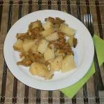 Chanterelles fried potatoes