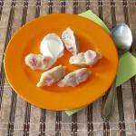 Dumplings with strawberry recipe with a photo